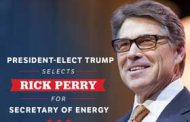 Texas Governor Perry is Trumps Choice for Energy Department